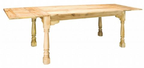 Large Rustic Oak Finish Extending Table